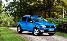 DACIA SANDERO STEPWAY NEW A1 CANVAS GICLEE ART PRINT POSTER FRAMED
