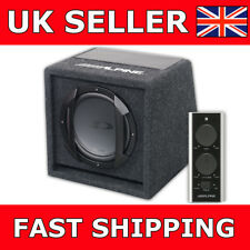 """ALPINE 8"""" SWE-815 Active Car Sub Box / Subwoofer / Wiring Kit And Amplifier/ Amp"""