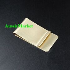 1 x money clip note card holder mens wallet ladies purse bag brass gold colour