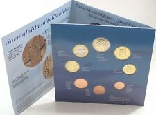 Finland 8 Coin 🇫🇮 Euro Set 2001 Folder KMS new BUNC 1cent To 2€