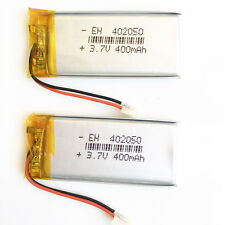 2 pcs lipo Li-Polymer li ion Battery 400mAh 3.7V For Mp3 GPS camera Radio 402050