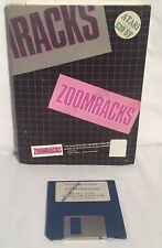 "ZOOMRACKS Atari ST 3.5"" Floppy Disk Utility Software Boxed W/ Manual CIB Vintage"