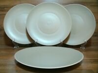 "SET OF 4 - WEDGWOOD - VERA WANG - NATURALS LEAF - 11 1/8"" DINNER PLATES - EUC"