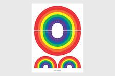 Pride Rainbow Weatherproof Stickers / 4 Rainbow LGBT Gay Pride Stickers