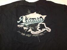 Del Sol Ketchikan Alaska The Last Frontier Men's Short Sleeve T Shirt XL Blk GUC