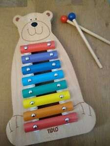 Tidlo Children's Wooden Musical Bear Xylophone - Music Instrument John Crane