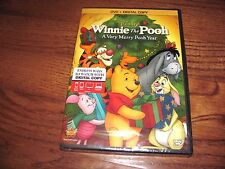 Winnie the Pooh - A Very Merry Pooh Year Disney(DVD+Digital Copy,2013)Fast Ship