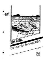 Bombardier service shop manual 1985 SKANDIC 377 R & 1985 SAFARI 377
