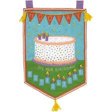 Felt Embroidery Kit ~ Plaid / Bucilla Birthday Countdown Wall Hanging #86929E