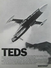 11/1976 PUB NORTHROP TEDS TACTICAL EXPENDABLE DRONE SYSTEM US AIR FORCE AD