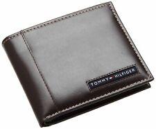 New Men's Tommy Hilfiger Leather Credit Card Wallet Billfold 5675-02-brown