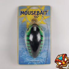 MOUSEBAIT Optical Wired Mouse MB-1 USB, PS2, Fishing Lure Design Green Black