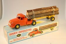 Dinky Toys 36 A Tracteur Willeme and lumber carrier near mint in a great box