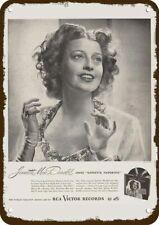 1946 Rca Records Vintage Look Replica Metal Sign Opera Singer Jeanette MacDonald