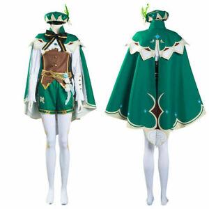 Game Genshin Impact Venti Cosplay Costume Halloween Outfit Uniform #
