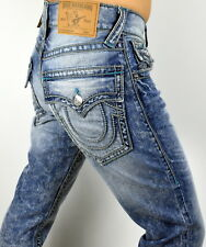 True Religion Men's Hand Picked Chainstitch Straight Super T Jeans - 100112