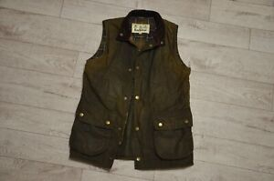 Men's Barbour Westmorland Waxed Gilet Green Olive Size M