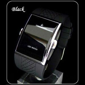 New Men Quartz Wrist Watch LED Retro Rectangle Unisex Classic Digital Watches