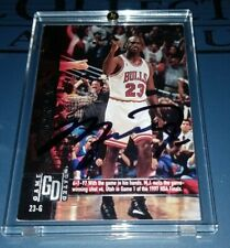 MICHAEL JORDAN - Autograph Signed Game Dated NBA card Signature Authentic w/ COA