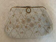 Vintage Delill Beaded Embellished Bag Made In France Clutch Evening Bag