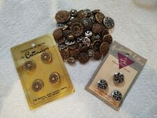 LOT OF VINTAGE METAL TWINKLE/ MIRROR BACK BUTTONS+