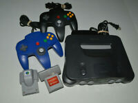 Nintendo 64 N64 OEM Console Bundle 2  Controllers Tested Power Cord Memory Cards