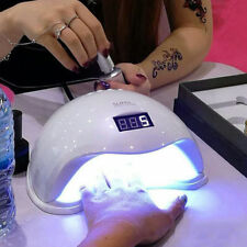 48W SUN5 LED UV Nail Lamp Light Gel Polish Cure Nail Dryer UV Lamp UK Plug New