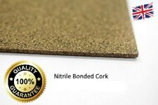 Cork Rubber sheet/Gasket material Nitrile Bonded 250mm x 100mm (1.5mm/3mm & 6mm)
