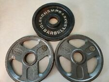 """10Lb Weider Olympic Plates Set Of 3 (30Lbs Total Weight) Barbell 2"""" Hole"""