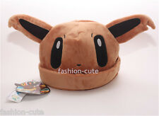 New Unisex Cosplay Winter Pokemon Plush Warm Hat Cap Beanie Costume Eevee Gift
