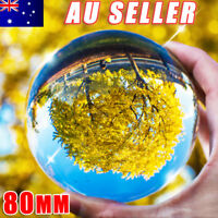 Clear Glass Crystal Ball Healing Sphere Photography Props Lensball 80MM FLC