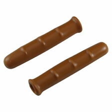 PAIR BROWN COVER LEVER GRIP BIKE FIXIE VINTAGE BRAKE RUBBER RETRO CLASSIC HOODS