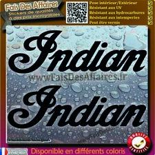 2 stickers autocollant indian motorcycle deco réservoir moto casque etc decal