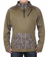 Mossy Oak Bottomland Vintage 1/4 Zip Camo Pullover XL Turkey Hunting Hoodie