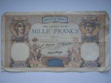 France 1927 1000 Francs banknote Fair R.32 512 Paris 23/02/27