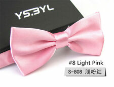 1Pcs Mens Unisex Tuxedo Bowtie Solid Color Neckwear Adjustable Bow Tie Wedding