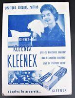 "KLEENEX Tissue French Advertising Window Cardboard Display Vtg Retro 15"" x 11"""