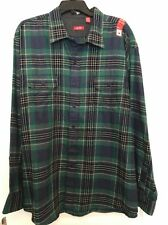 New IZOD - Long Sleeve Saltwater Plaid Easy Care Shirt XXL NEW