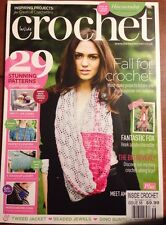 Inside Crochet UK Edition Stunning Patterns Creative DIY 56 2014 FREE SHIPPING!