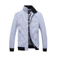 Men's Sportswear Windbreaker Casual Zip Up Jacket Stand Collar Long Sleeve Coat