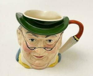 VINTAGE SYLVAC STAFFORDSHIRE MR PICKWICK CHARACTER TOBY JUG HAND PAINTED ENGLISH