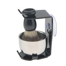 3 in 1 Salon Men's Hair Removal Shaving Brush with Soap Mug Razor Stand