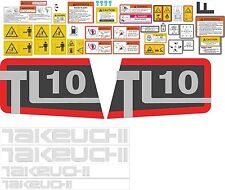Takeuchi TL10 Decal Kit - very high quality aftermarket decals