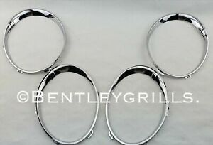 Bentley Flying Spur Chrome Head Light Trims Rings 2006 To 2012 Model 4 Piece