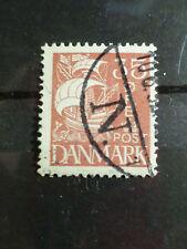 DANEMARK, 1927-30, timbre 185, VOILE BLANCHE, BATEAU, VOILIER, oblitéré