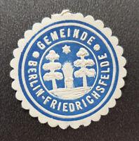 GEMEINDE BERLIN-FRIEDRICHSFELDE Siegelmarke Vignette (8154-4)