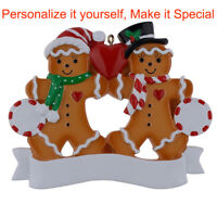 MAXORA Personalized Ornament Gingerbread Family of 2 3 4 5 6 Christmas Gift