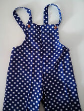 Cotton Dungarees blue with white dot pattern 2 pairs Age 1 and Age 2 by Ladybird