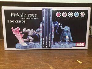 "Fantastic Four vs Dr.Doom Bookends Marvel Diamond Select 2003 RARE ""Damaged"""