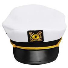 Unisex Adult Yacht Boat Captain Navy Cap Costume Party Sailor Hat Square Symbol